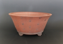 Large Drum Pot with Cloud Feet